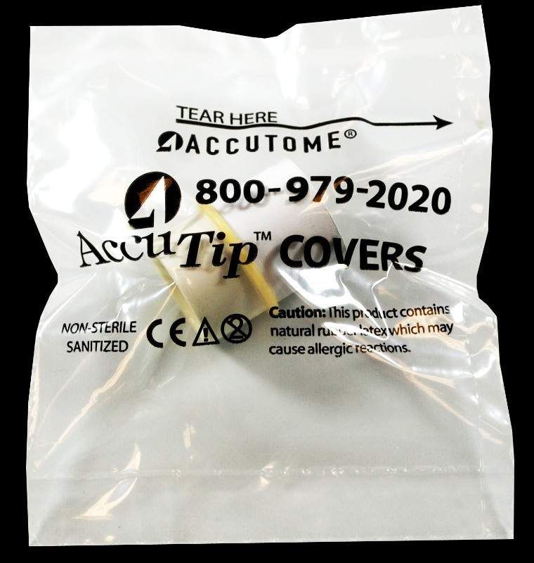 AccuTip Tonometer Tip Covers - Sleeved, Individually Wrapped Box Of 300 - Sanitized