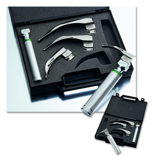 ADC Fiber Optic Laryngoscope Set with 5 Miller Blades