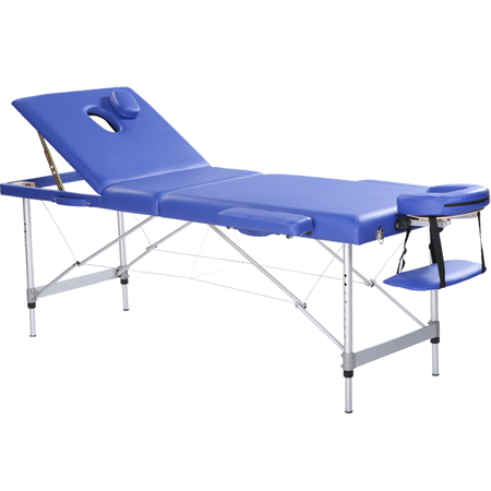 Adjustable massage bed