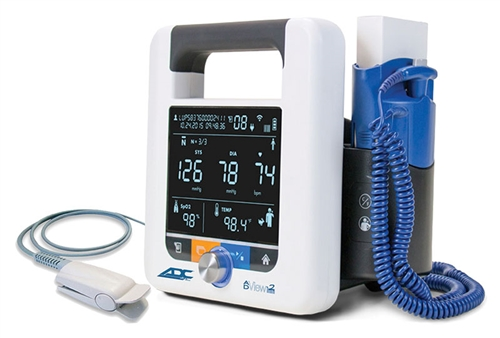 ADview 2 Monitor (Blood Pressure, Heart Rate, ChipOx Nellcor-compatible SpO2 & Temperature)