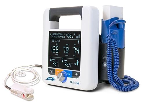 ADview 2 Monitor (Blood Pressure, Heart Rate, Masimo SpO2 & Temperature)