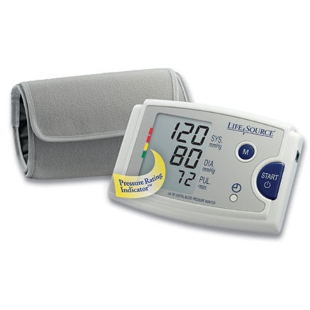AnD UA-787EJ LifeSource Digital Blood Pressure Monitor w/ Easy-Fit™ Cuff & AC Adapter