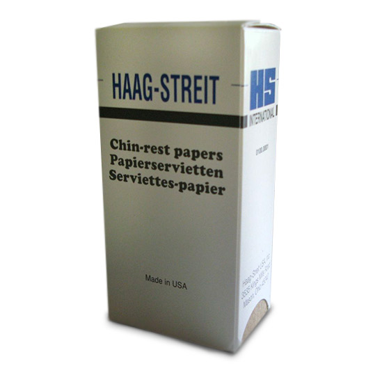 Chin rest papers for Haag-Streit slit lamps