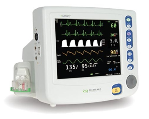 Criticare nGenuity 8100EP1-ST Patient Monitor w/ ST, Arrythmia, Printer