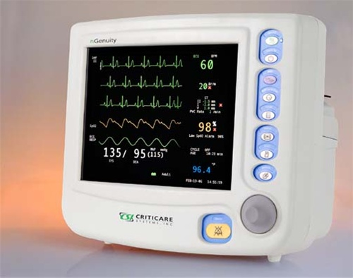 Criticare nGenuity 8100E-ST Patient Monitor w/ ST, Arrythmia
