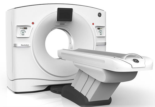 CT SCANNER / FOR FULL-BODY TOMOGRAPHY / 128-SLICE / WIDE-BORE REVOLUTION FRONTIER