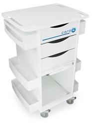 Deluxe White Polyethylene Medical Cart