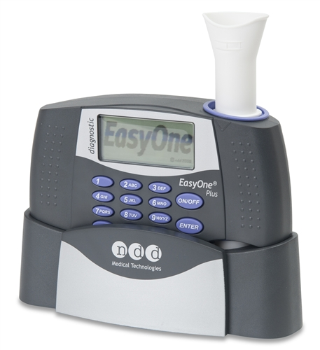 EasyOne Plus Diagnostic Spirometer, Cradle and EasyWare Software. (Printer not Included)