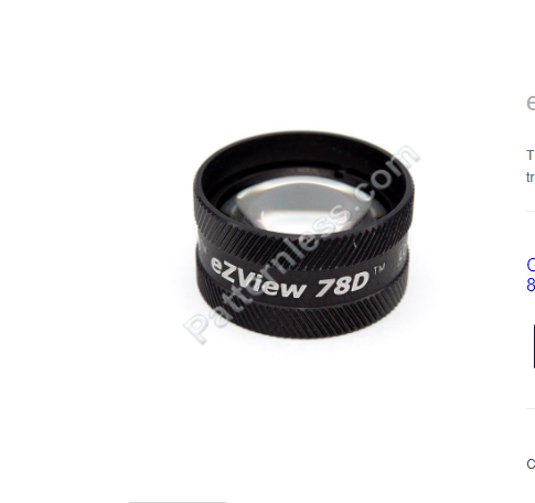 eZView 78D Slit Lamp Lens