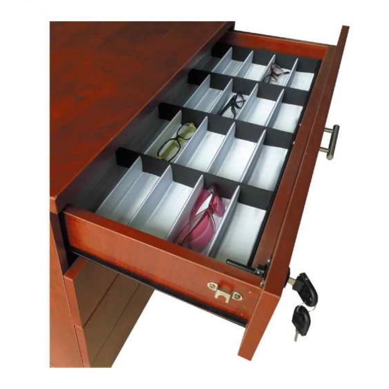 Frame Display 4-Drawer Dresser with Lock