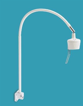 "HM-Series Wall Mount Examination Lamp, 27"" Gooseneck Arm, 10"" Rigid Tube"