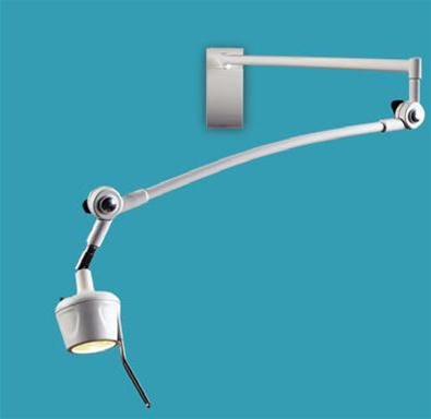 "HM-Series Wall Mount Examination Lamp, 44"" Articulated Arm"