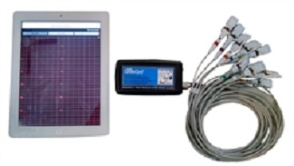 Ipad & Iphone EKG CardioCard Mobile ECG machine (iPad & iPhone Version) w/10 Lead Patient Cable, Wireless