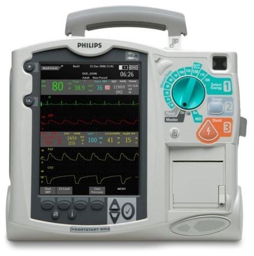 Philips Heartstart MRx - 12-lead ECG, Pacing, SpO2, NIBP, EtC02, 2-IBP, Temp, & AED (Refurbished)
