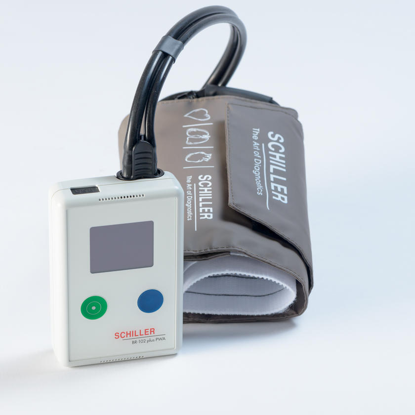 PULSE WAVE ANALYSIS (PWA) AND BLOOD PRESSURE MEASUREMENT IN ONE  BR-102 PLUS PWA
