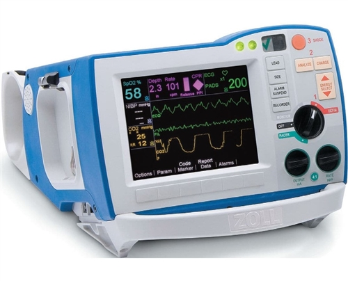 Zoll R Series ALS Defibrillator w/ NIBP, SpO2, Pacing, & EtCO2