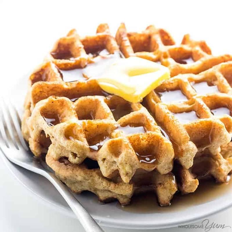 Keto Paleo Almond Flour Waffles Recipe - Gluten Free