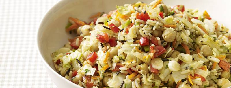 Wild Rice, Cabbage and Chickpea Pilaf