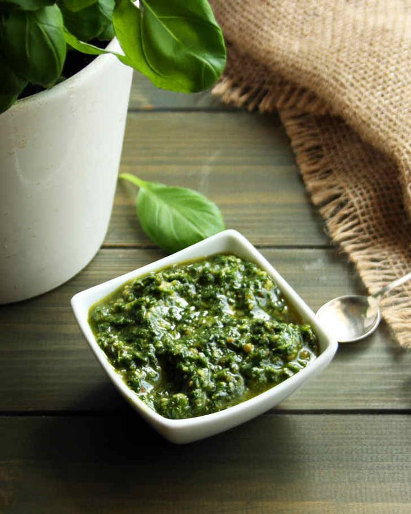 Easy Keto Basil Pesto Recipe [Dairy-Free, No Cheese]