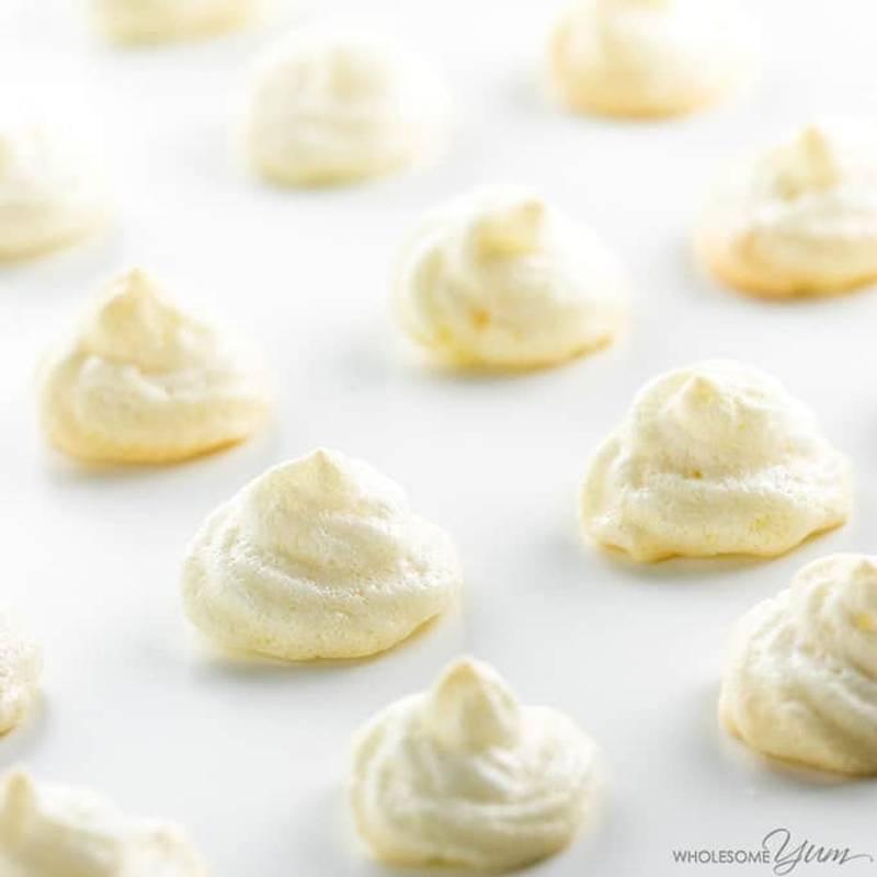 Easy Sugar-Free Lemon Meringue Cookies Recipe - 4 Ingredients