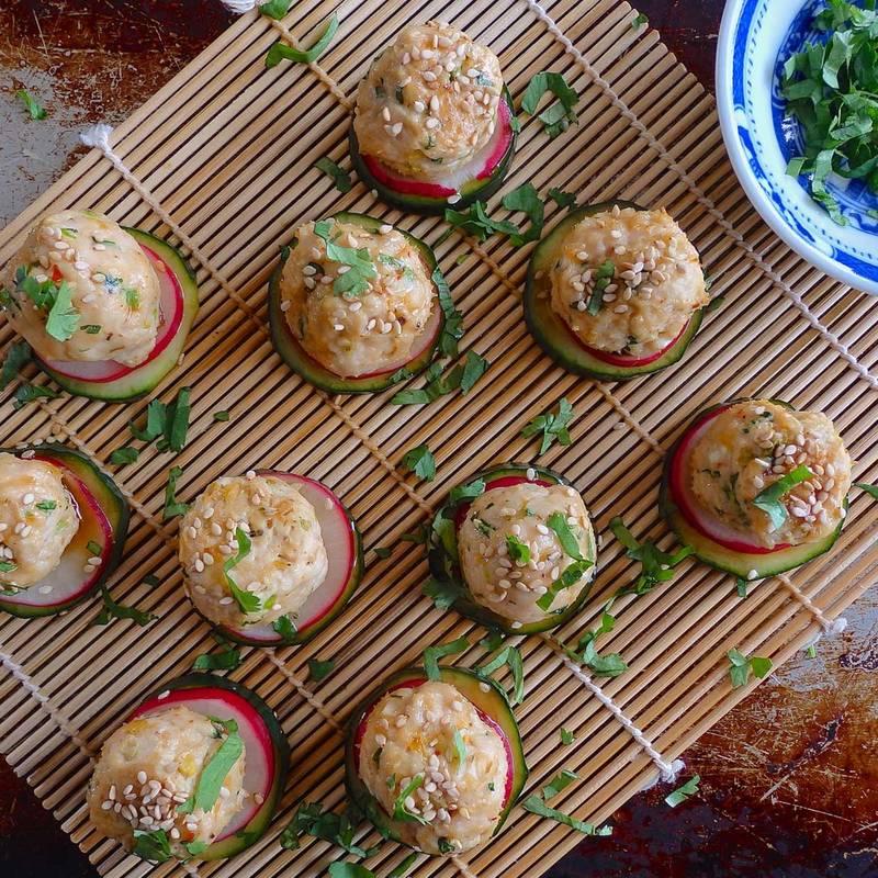 Kimchi Meatballs