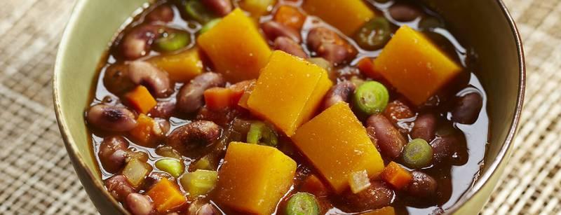Pumpkin and Anasazi Bean Stew