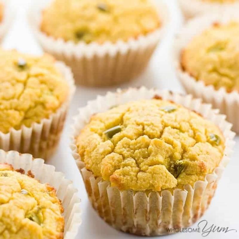 Paleo Cornbread Muffins (Coconut Flour Muffins) with Jalapeños
