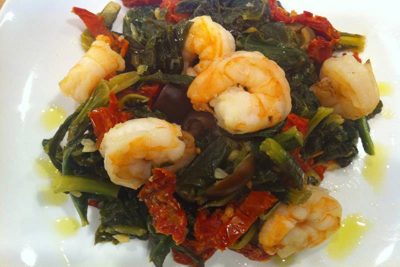 Shrimp and Greens