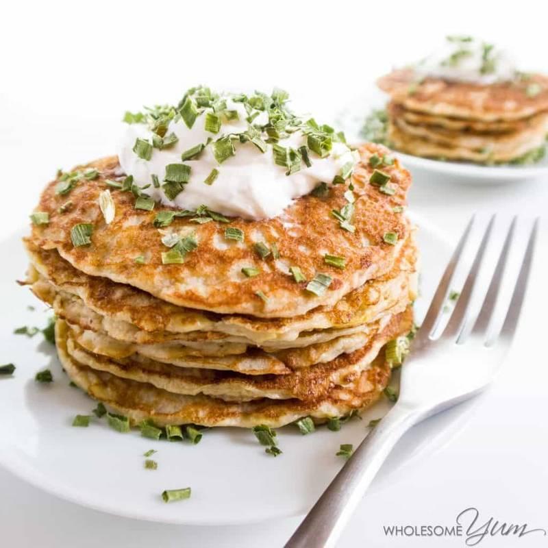 Savory Squash Kefir Pancakes (Low Carb, Gluten-free)