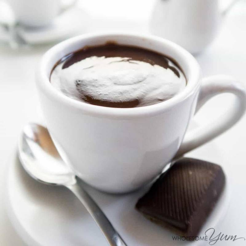Fancy Low Carb Hot Chocolate (Sugar-free, Gluten-free)