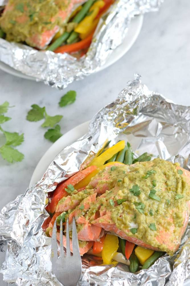 Mexican Baked Salmon in Foil