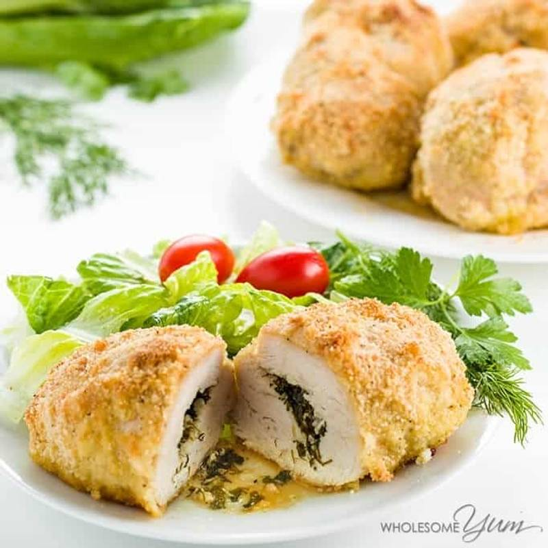 Easy Baked Chicken Kiev (Low Carb, Paleo, & Gluten-free)