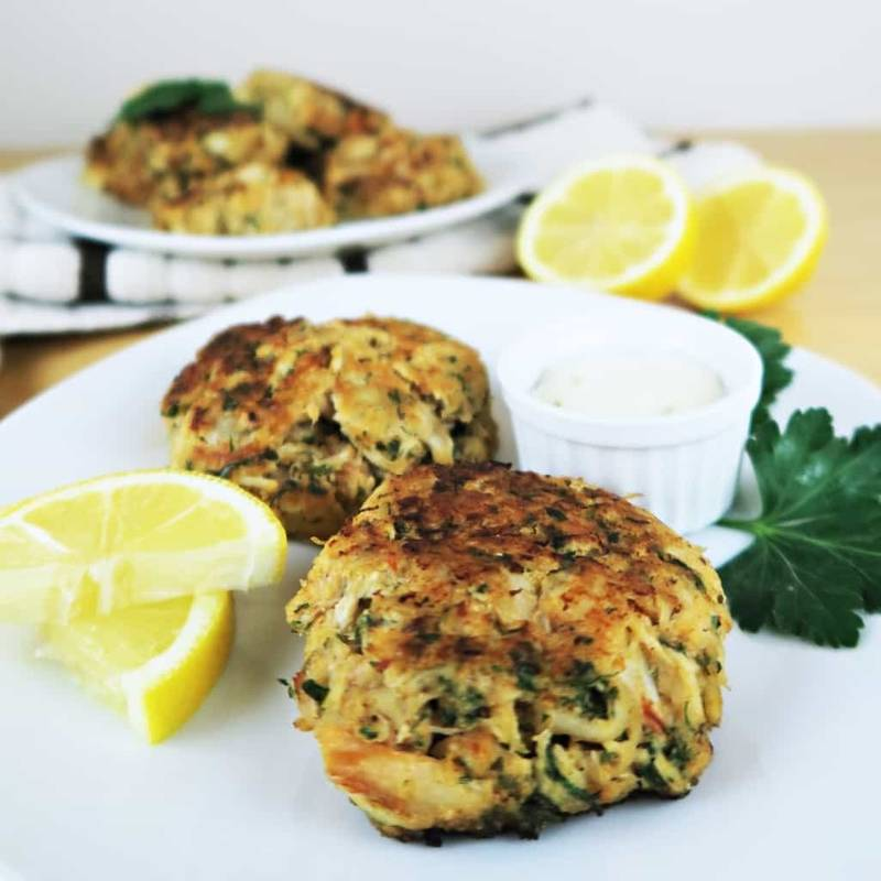 Gluten-free Low Carb Crab Cakes (Paleo)