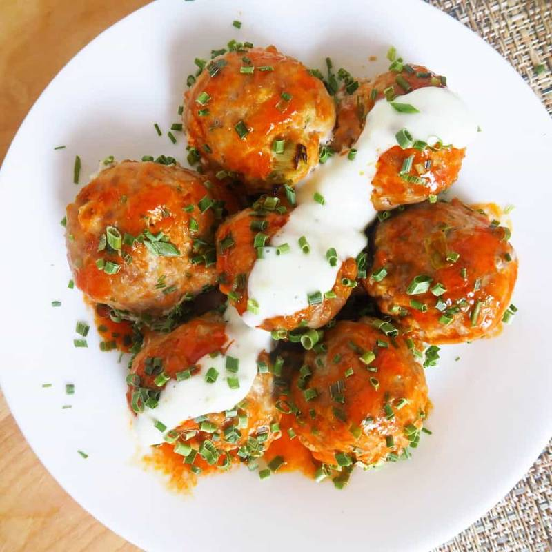 Buffalo Turkey Meatballs (Low Carb, Gluten-free)