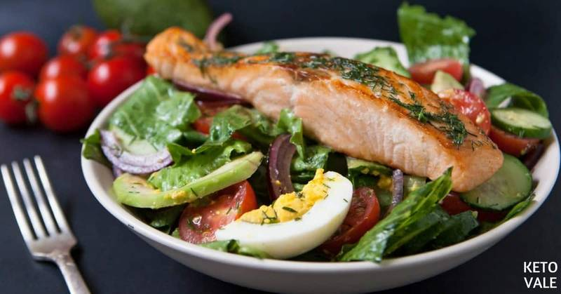 Keto Salmon Egg Avocado Salad