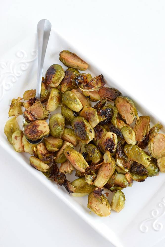 Honey Roasted Garlic Brussels Sprouts