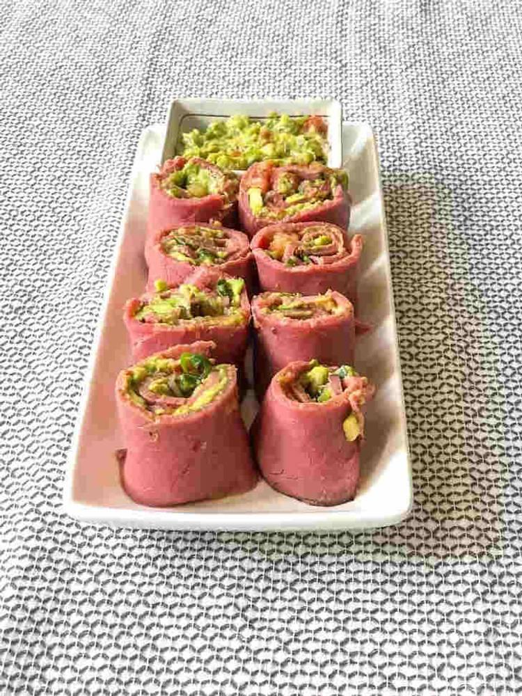 Keto Roast Beef Salsa Rolls Recipe