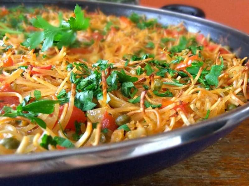 "Vegan ""Fideua"" - Spanish Noodle ""Paella"""