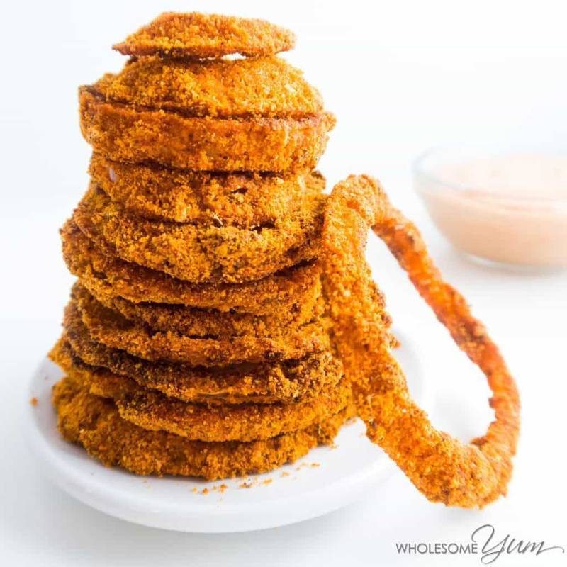 Cajun Low Carb Onion Rings (Paleo)