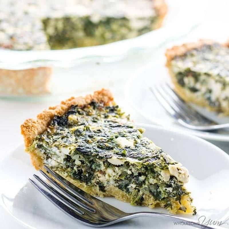 Easy Greek Spinach Pie Recipe - Healthy & Gluten-Free