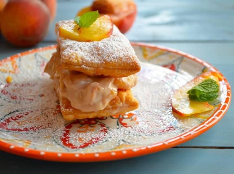 Vegan Peach Napoleon