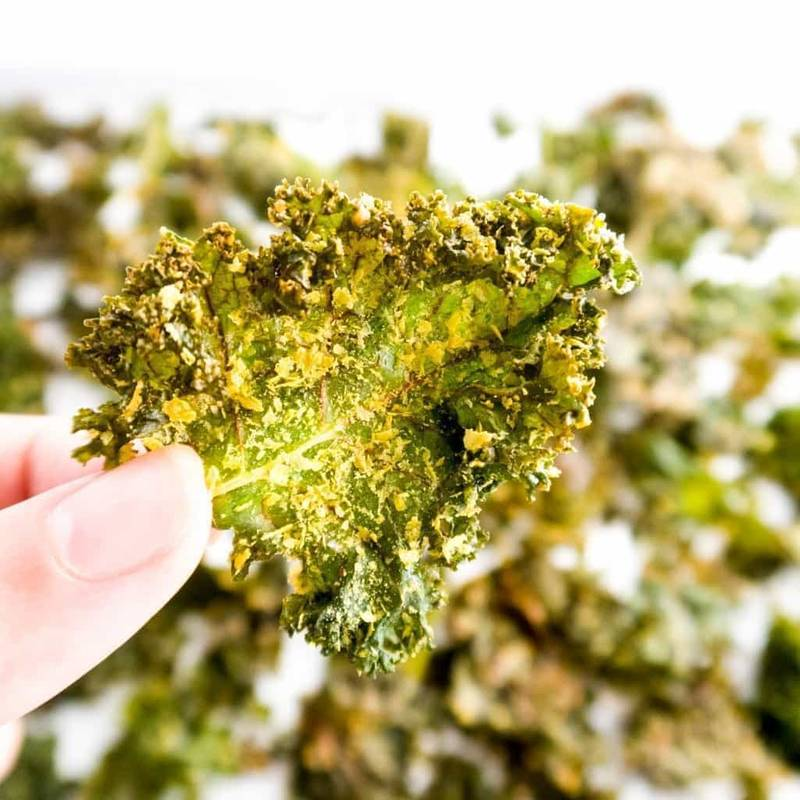 5-Ingredient Salt & Vinegar Kale Chips (Paleo, Low Carb)