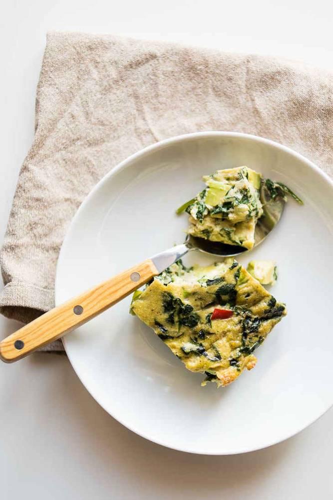 Creamy Dairy-Free Keto Spinach Frittata