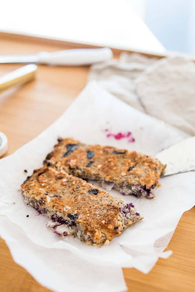 Keto Blueberry Breakfast Bars Recipe