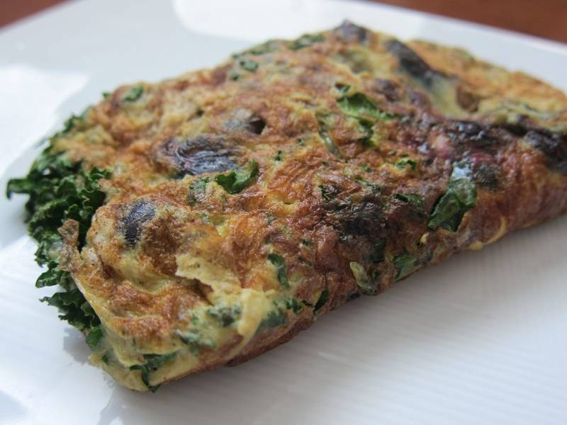 Blueberry Kale Omelette