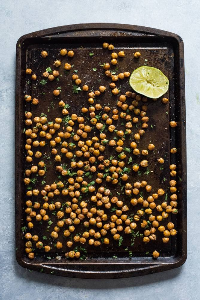 Cilantro Lime Roasted Chickpeas