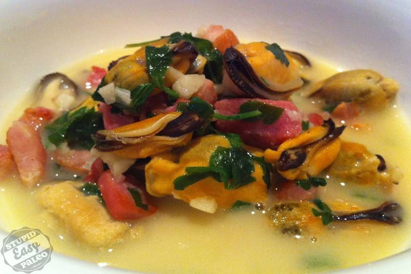 Mussels with Bacon in Lemon-Coconut Broth