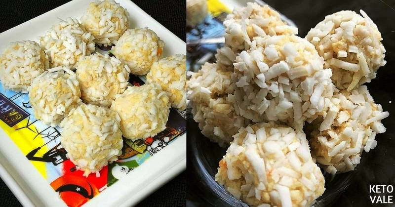 Keto Cauliflower Shredded Coconut Balls