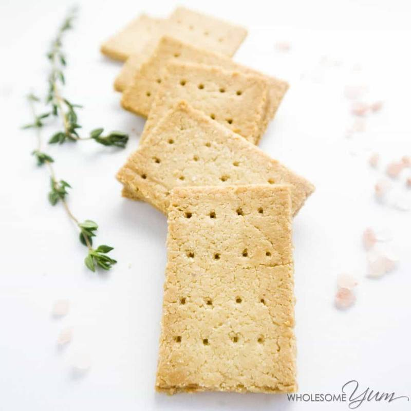 Paleo Low Carb Crackers Recipe with Almond Flour - 3 Ingredients
