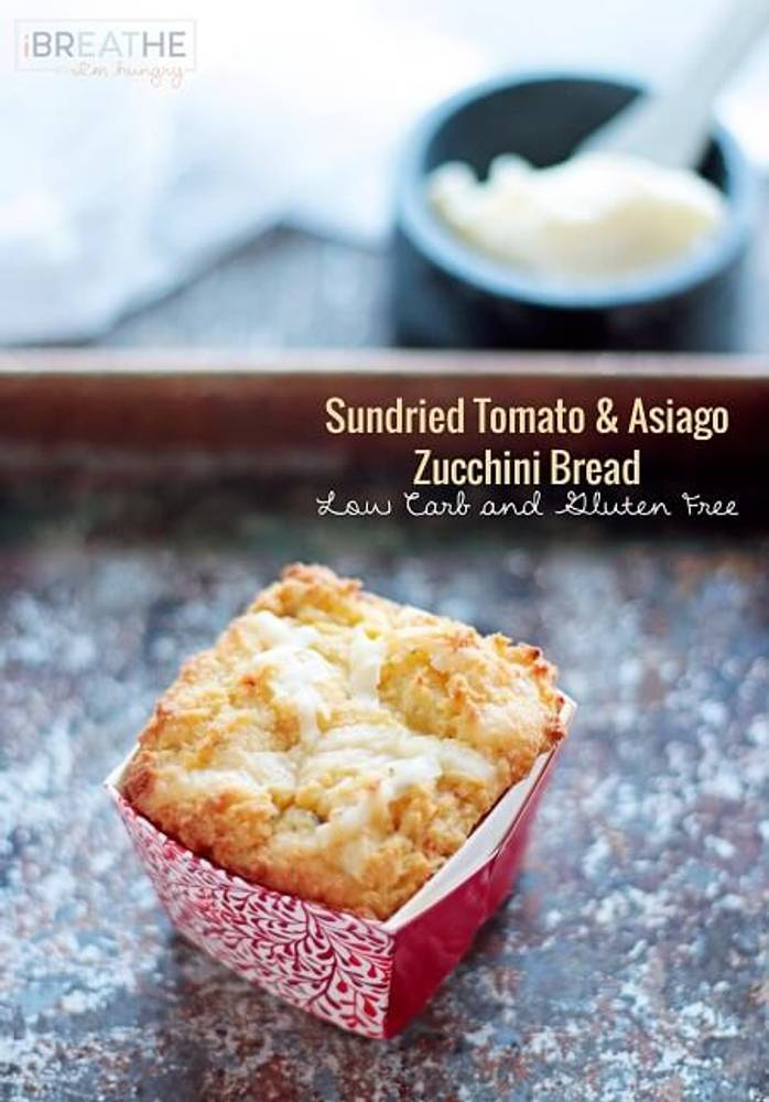 Sun-dried Tomato & Asiago Zucchini Bread - Low Carb